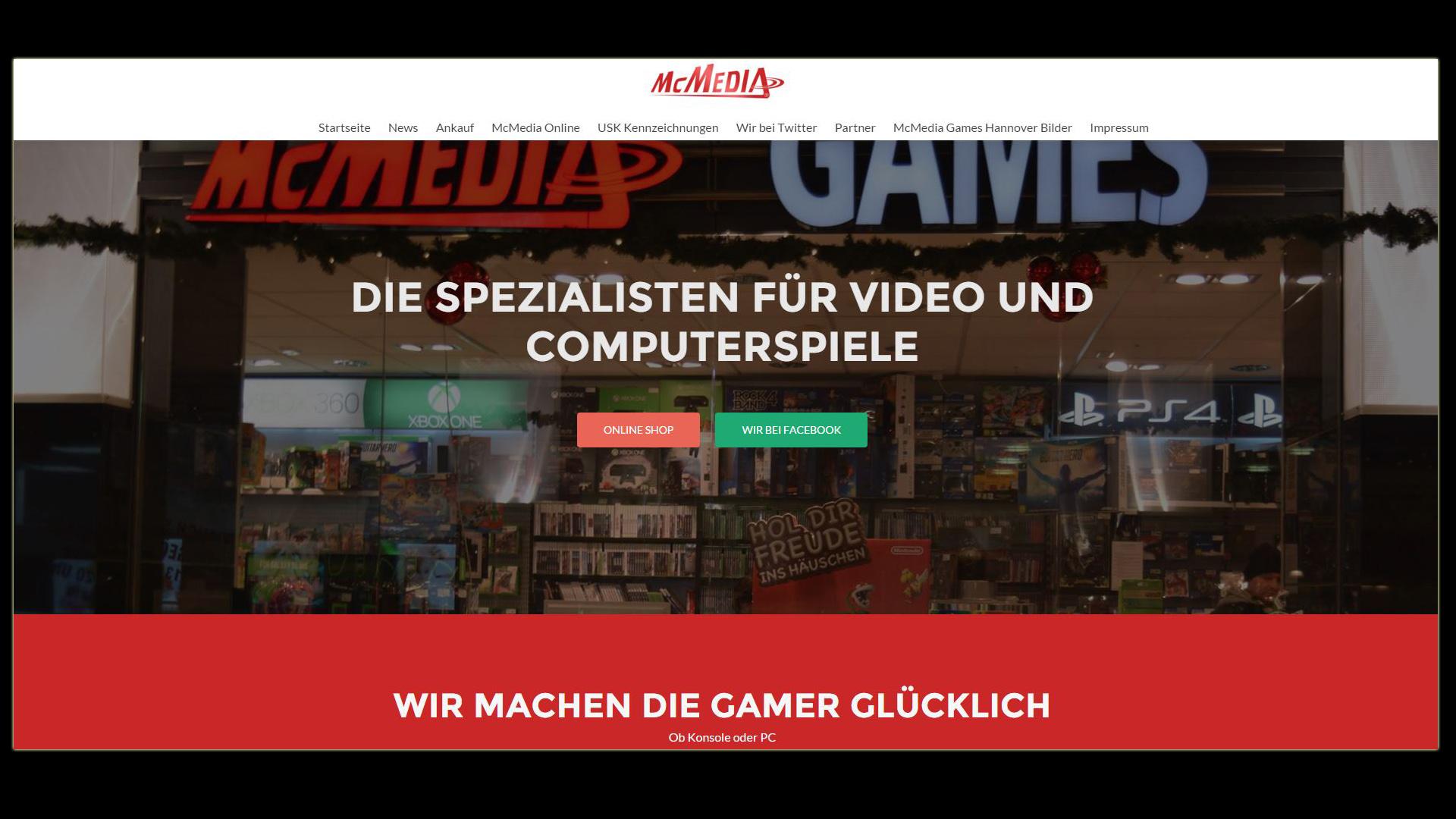 McMedia Games Hannover - Die Spezialisten für Video und Computerspiele
