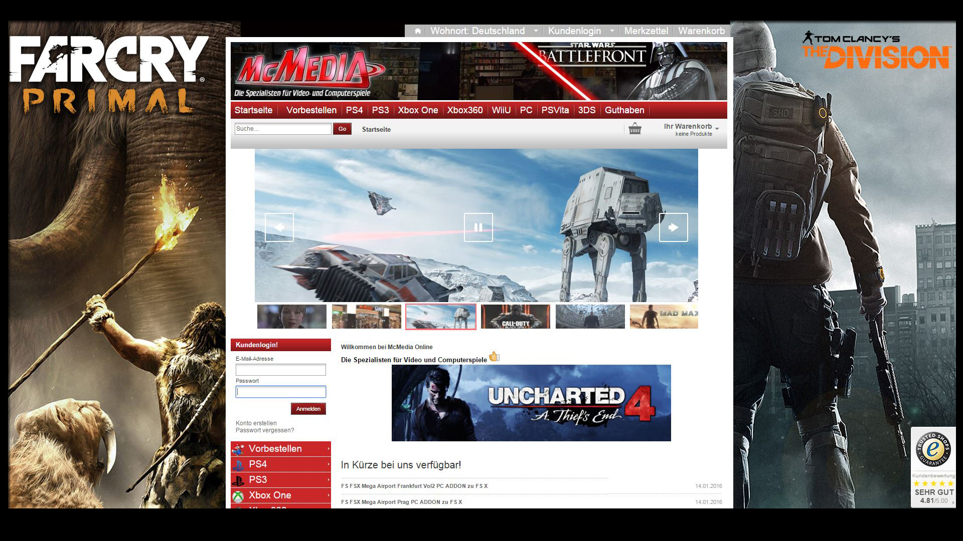 Willkommen bei McMedia Online Die Spezialisten für Video und Computerspiele